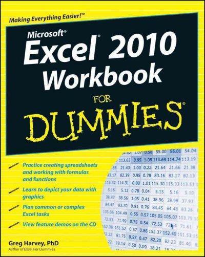 Excel 2010 Workbook for Dummies (Paperback)