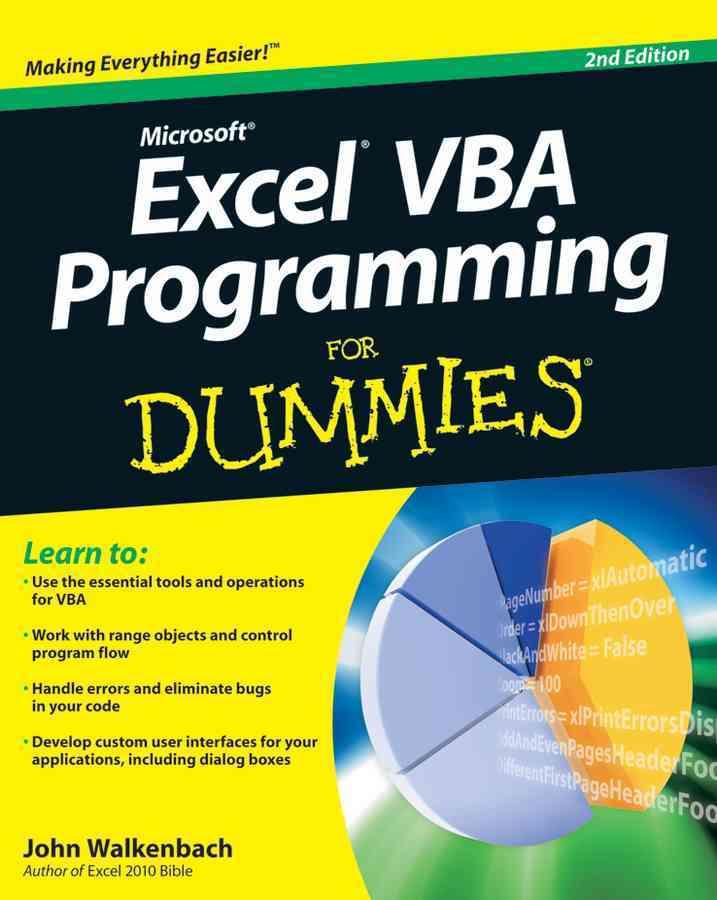 Excel VBA Programming For Dummies (Paperback)
