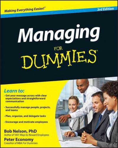Managing for Dummies (Paperback)