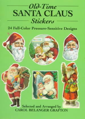 Old-Time Santa Claus Stickers: 24 Full Color Pressure Sensitive Designs (Paperback)