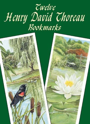 Twelve Henry David Thoreau Bookmarks