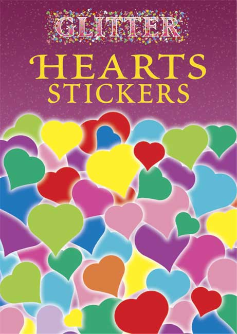 Glitter Hearts Stickers (Paperback)