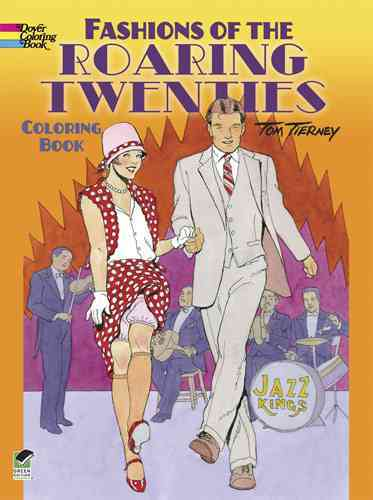 Fashions of the Roaring Twenties Coloring Book (Paperback) - Thumbnail 0