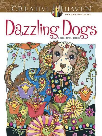 Dazzling Dogs Coloring Book (Paperback)