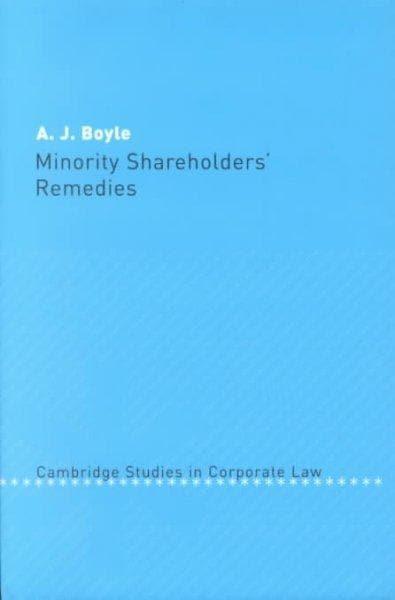 Minority Shareholders Remedies (Hardcover)