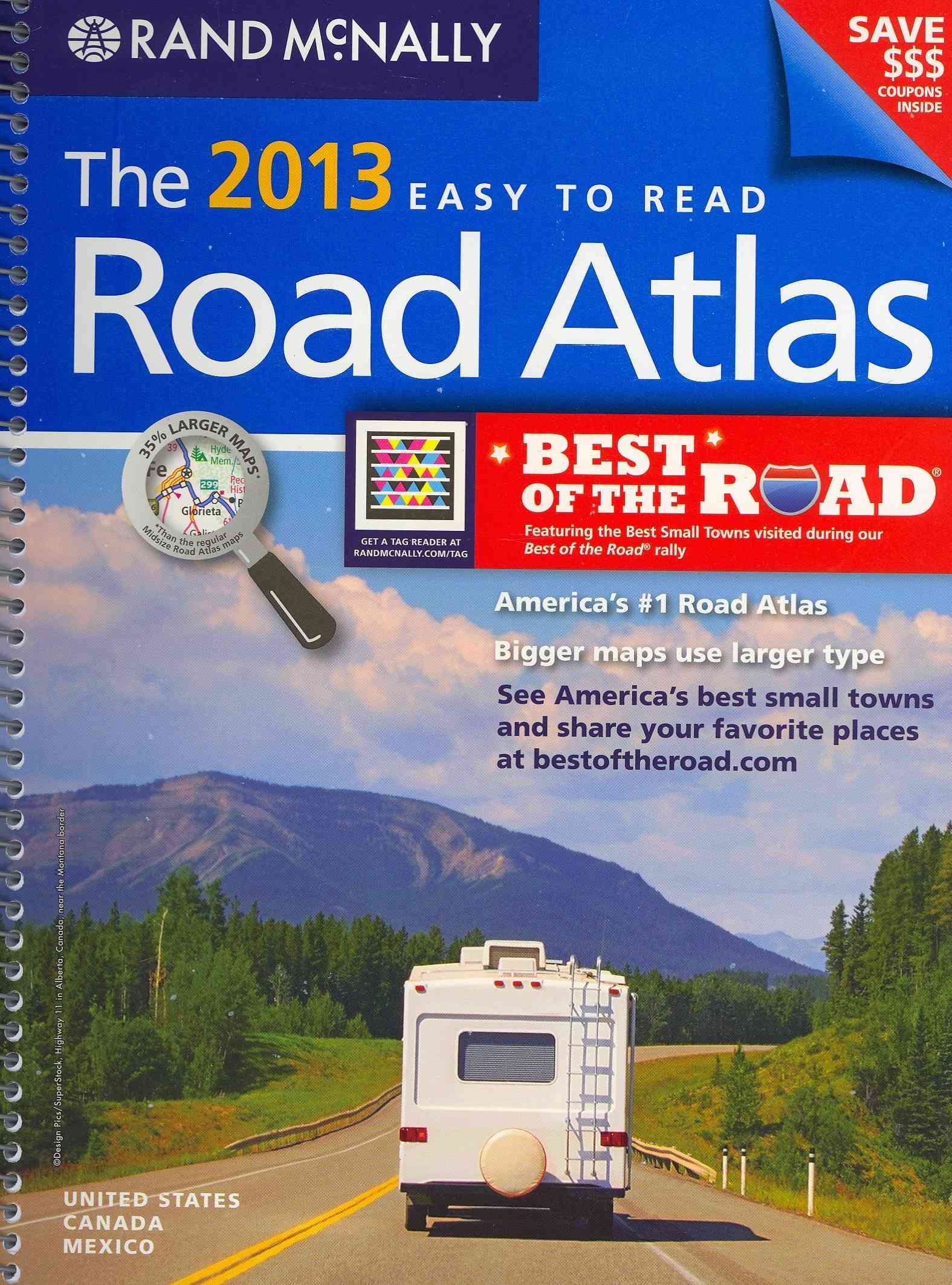 Rand McNally 2013 Easy To Read Road Atlas: United States, Canada, Mexico (Spiral bound)