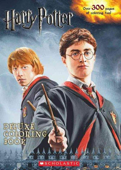 Harry Potter Deluxe Coloring Book (Paperback) - Thumbnail 0