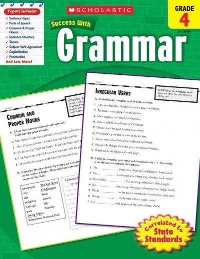 Scholastic Success With Grammar, Grade 4 (Paperback) - Thumbnail 0