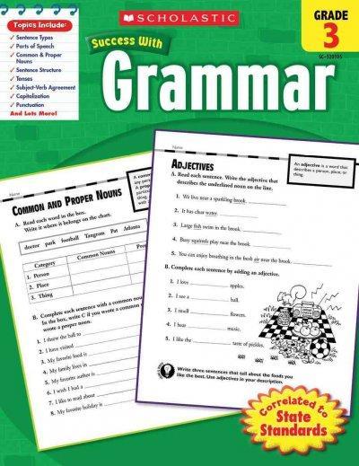 Scholastic Success With Grammar, Grade 3 (Paperback)