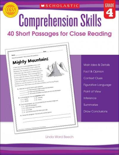 Comprehensive Skills: 40 Short Passages for Close Reading, Grade 4 (Paperback)