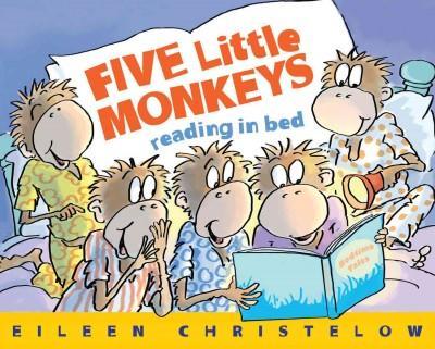 Five Little Monkeys Reading in Bed (Hardcover)
