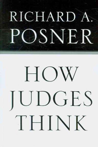 How Judges Think (Paperback)