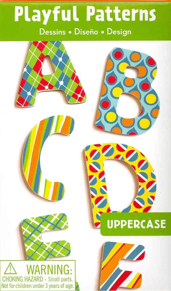 Playful Patterns Uppercase Letters Wooden Magnetic Set (Toy)