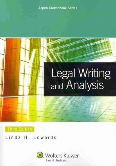 Legal Writing and Analysis (Paperback)
