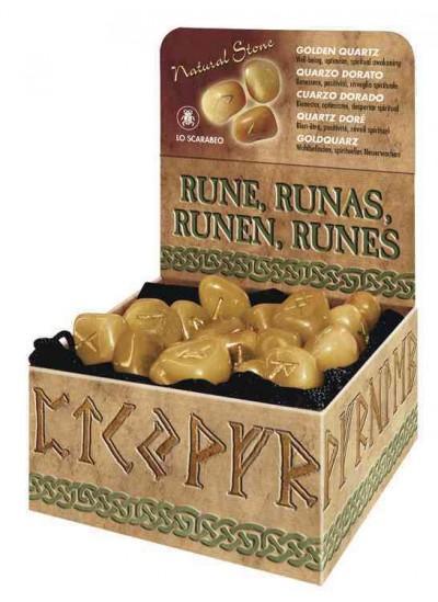 Golden Quartz Runes: Natural Stone (Hardcover)