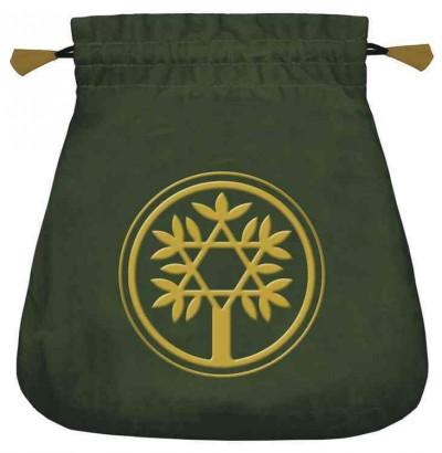 Celtic Tree Velvet Tarot Bag (Hardcover)