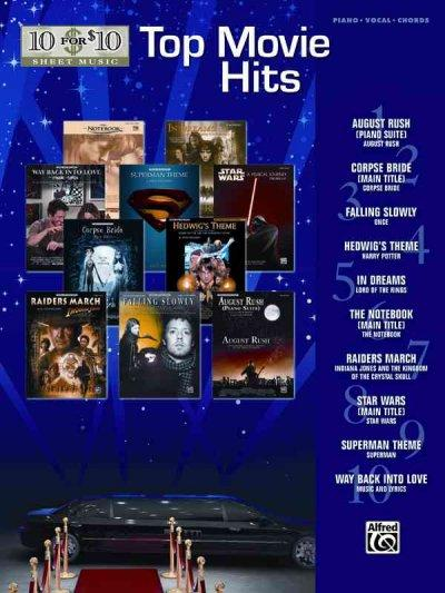 10 for 10 Sheet Music Top Movie Hits: Piano/Vocal/chords (Paperback)