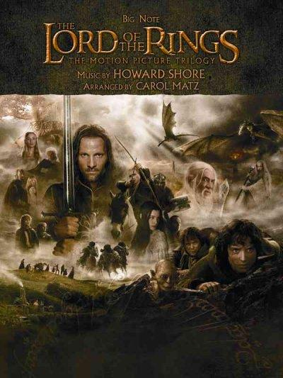The Lord of the Rings Trilogy: Music from the Motion Pictures Arranged for Big Note Piano (Paperback)
