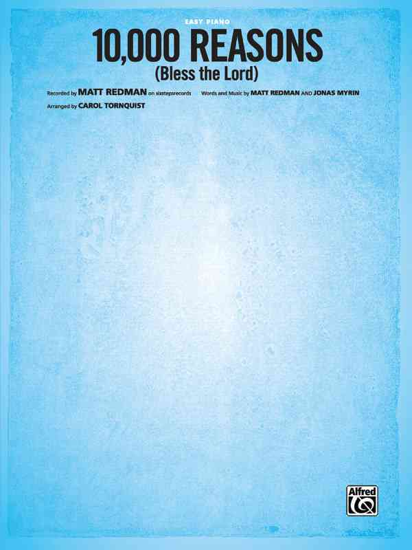 10,000 Reasons - Bless the Lord: Easy Piano, Sheet (Paperback)