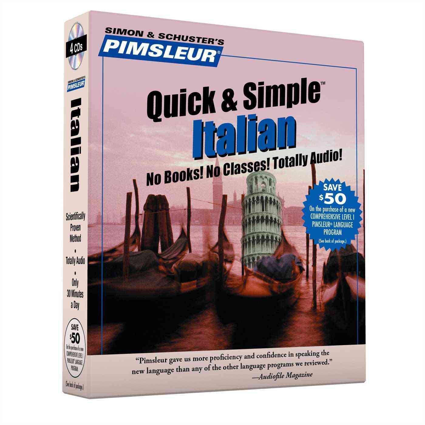 Pimsluer Quick & Simple Italian (CD-Audio)