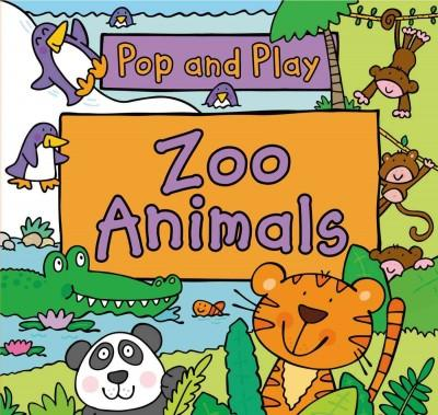 Pop and Play Zoo Animals (Board book)