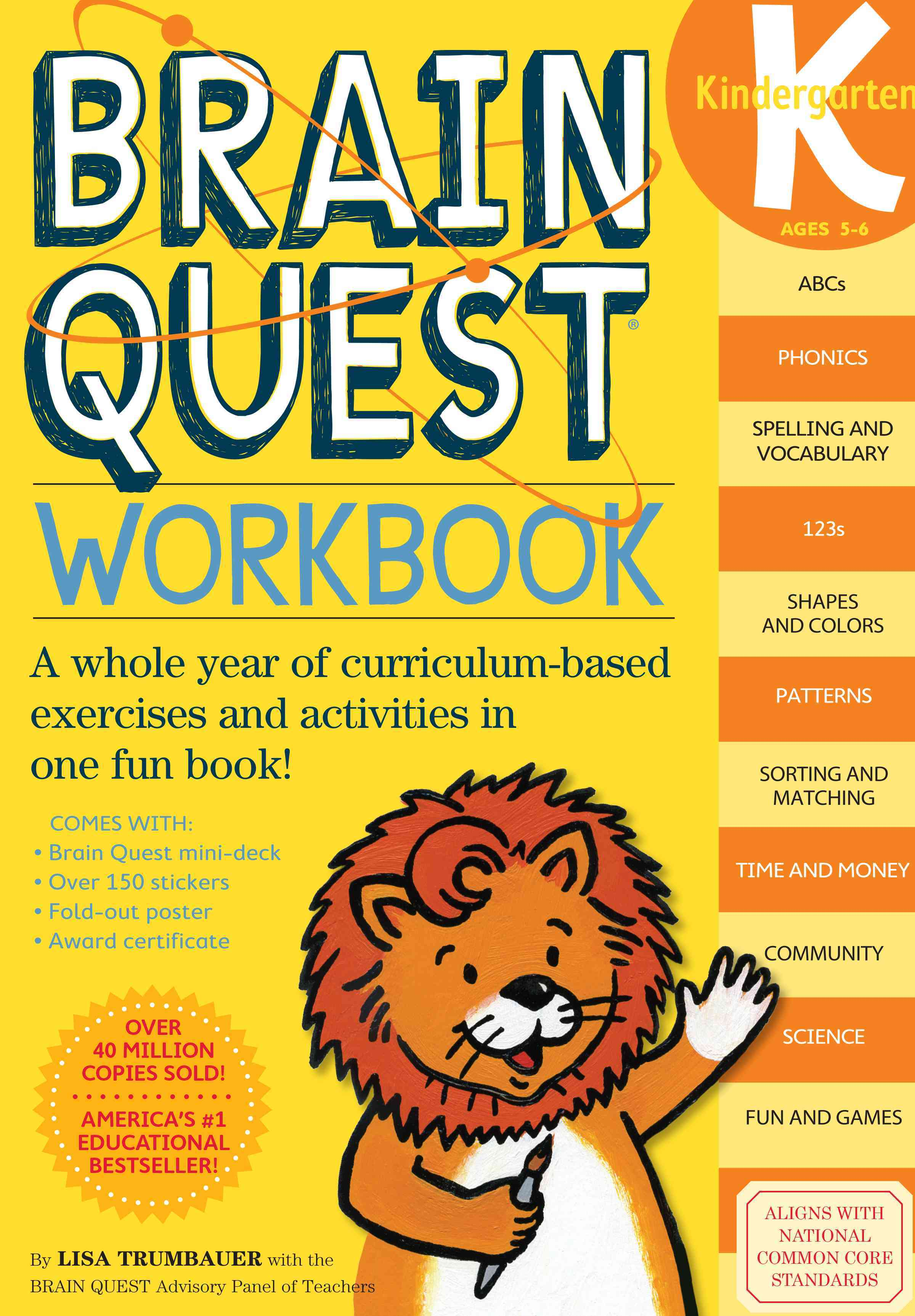 Brain Quest Workbook Kindergarten (Paperback)