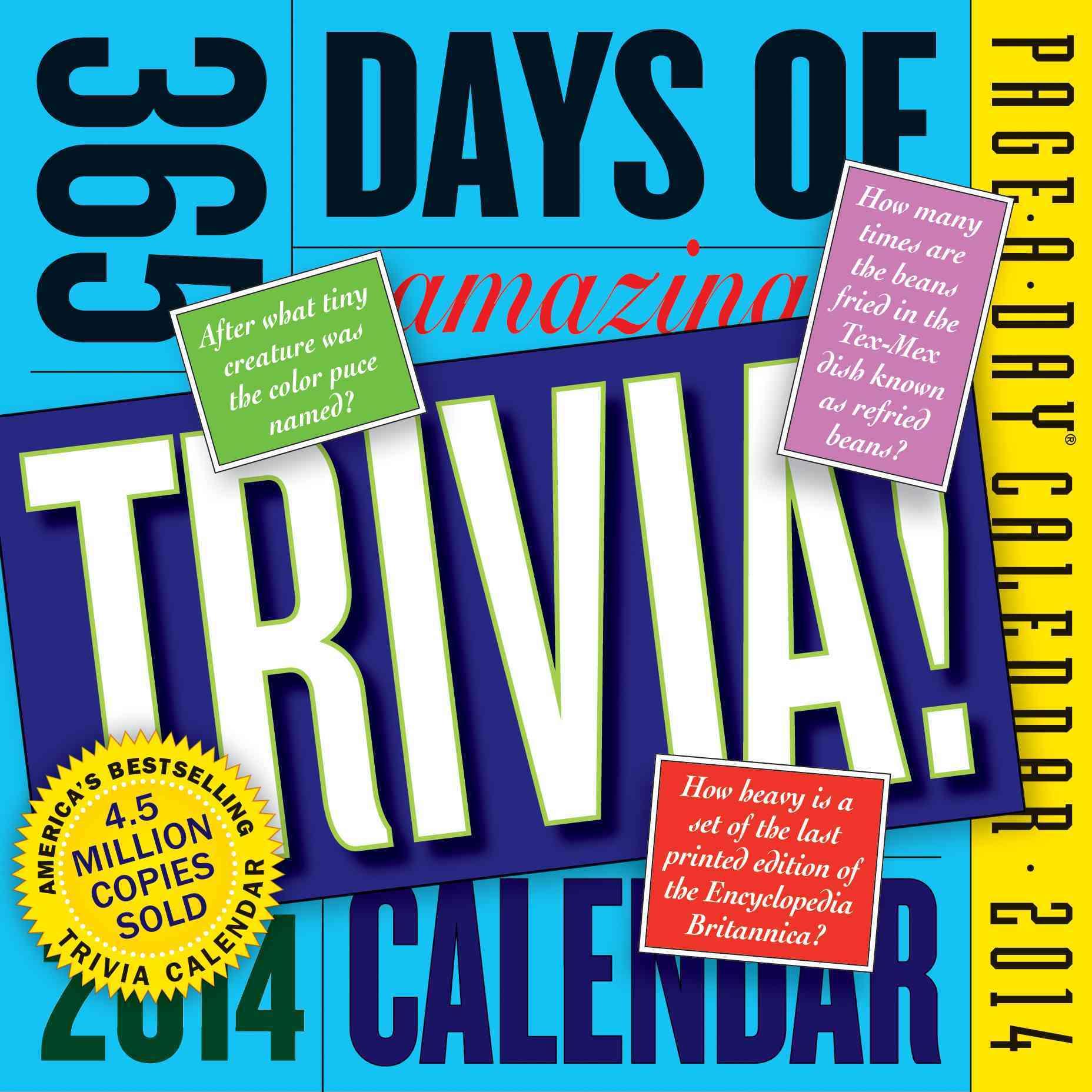 365 Days of Amazing Trivia 2014 Calendar (Calendar)