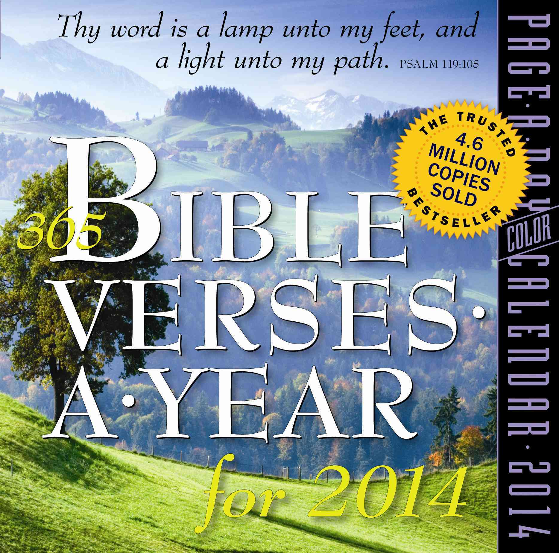 365 Bible Verses a Year 2014 Calendar (Calendar)