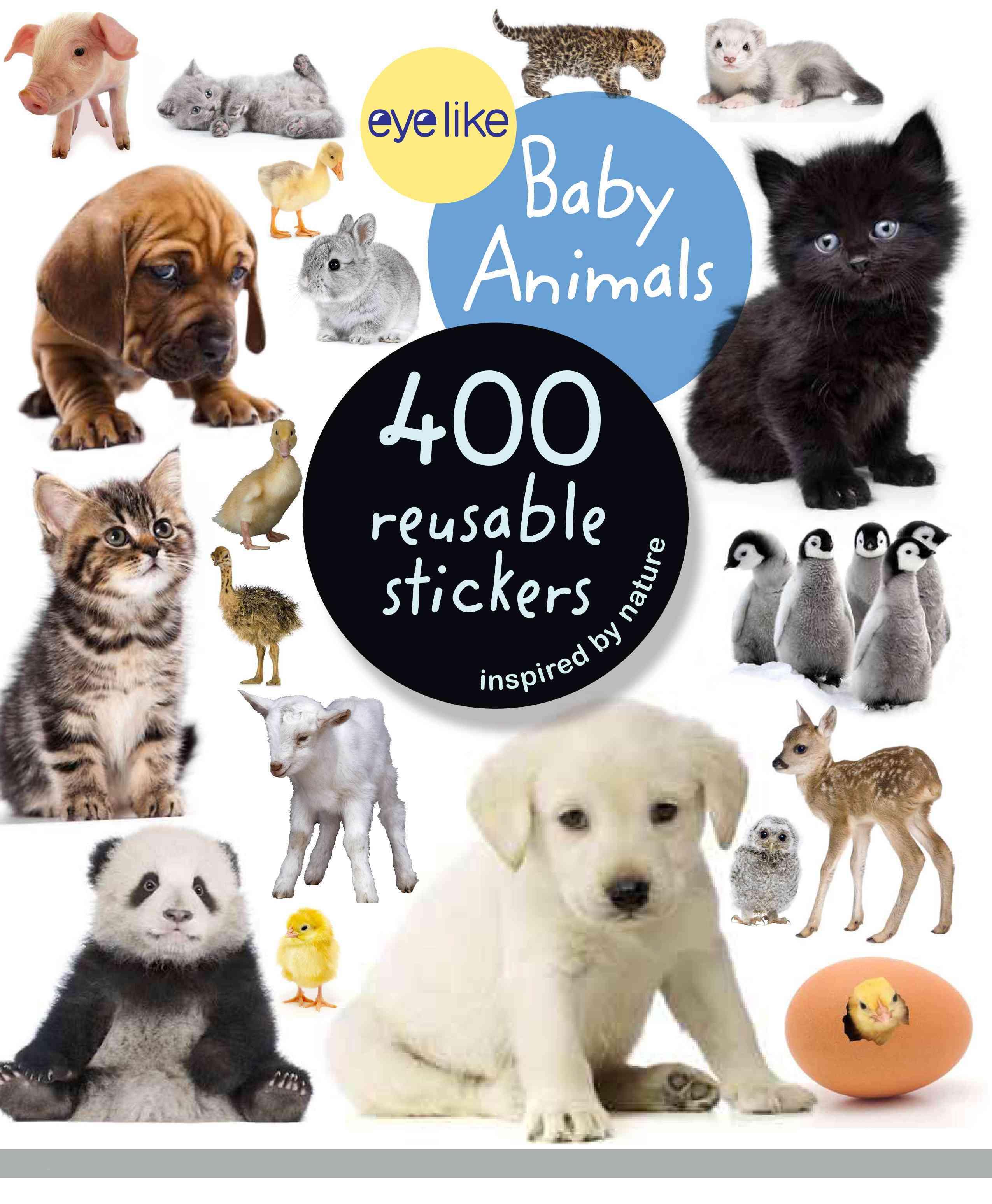 Eyelike Stickers: Baby Animals (Paperback)