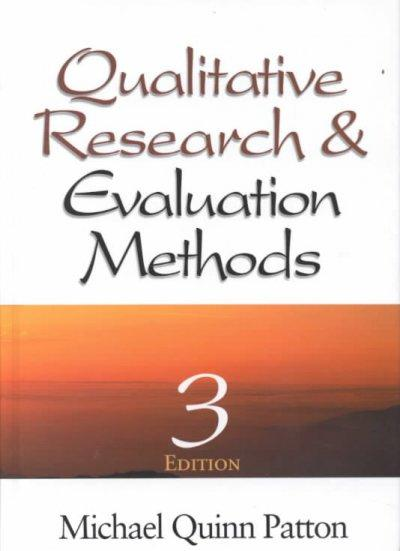 Qualitative Research & Evaluation Methods (Hardcover)