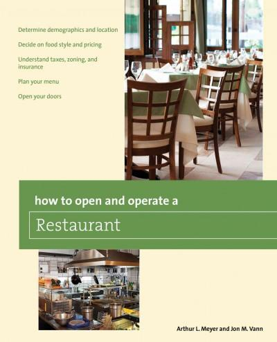 How to Open and Operate a Restaurant (Paperback)