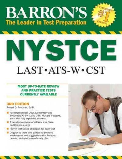 Barron's NYSTCE: Last, Ats-w, Cst (Paperback)