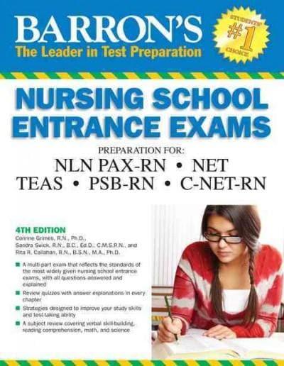 Barron's Nursing School Entrance Exams (Paperback)