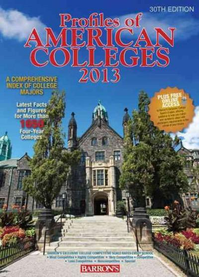 Profiles of American Colleges 2013 (Paperback)