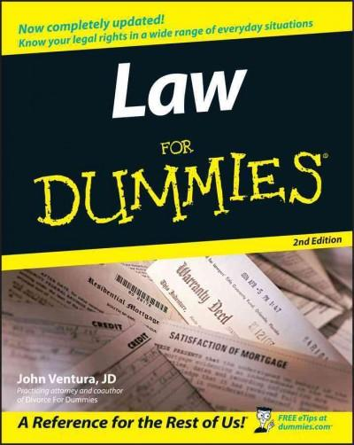 Law For Dummies (Paperback)