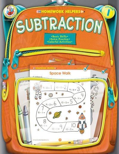 Homework Helpers Subtraction Grade 1 (Paperback)