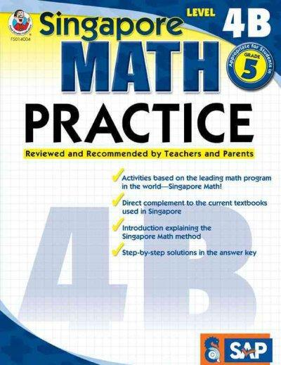 Singapore Math Practice, Level 4B (Paperback)