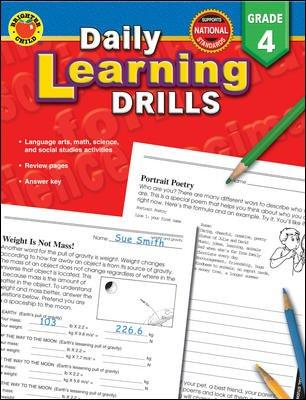 Daily Learning Drills, Grade 4 (Paperback)