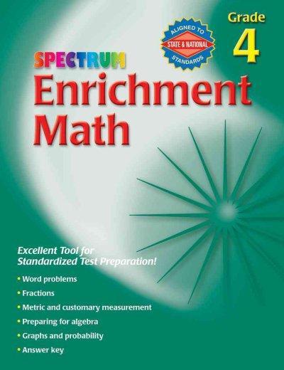 Spectrum Enrichment Math, Grade 4 (Paperback)