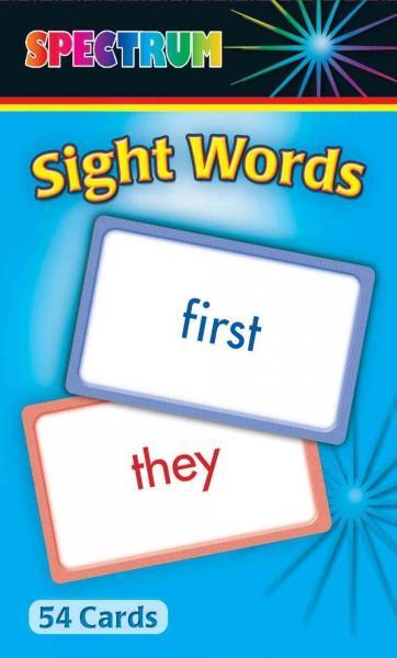 Spectrum Sight Words (Cards)