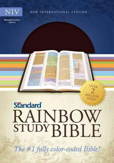 Standard Rainbow Study Bible: New International Version, Brown, Bonded Leather, Bold Line Edition (Paperback)
