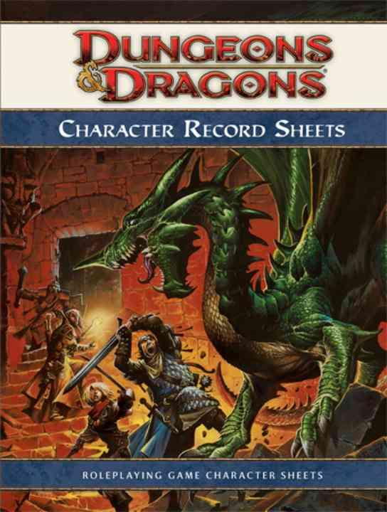 Dungeons & Dragons Character Record Sheets