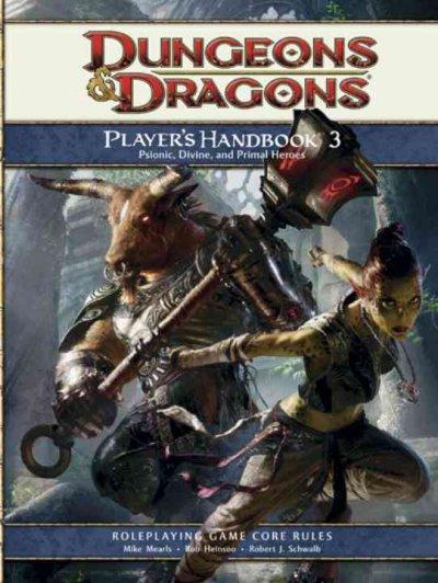 Dungeons & Dragons Player's Handbook 3: Psionic, Divine, and Primal Heroes: Roleplaying Game Core Rules (Hardcover) - Thumbnail 0
