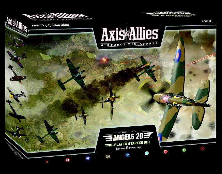 Axis & Allies Air Force Miniatures: Angels 20, Two-Player Starter Set, WWII Dogfighting Game (Game)