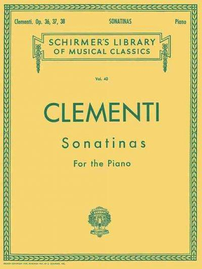 Clementi: Sonatinas for the Piano Op. 36, 37, 38 (Paperback)