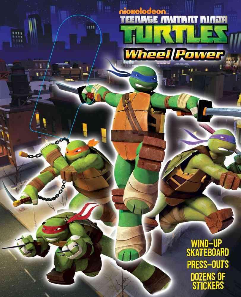Teenage Mutant Ninja Turtles Wheel Power Book and Skateboard