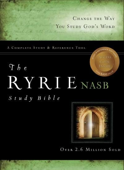 Ryrie Study Bible: New American Standard Bible, Burgundy, Bonded Leather, Red Letter Edition (Paperback)