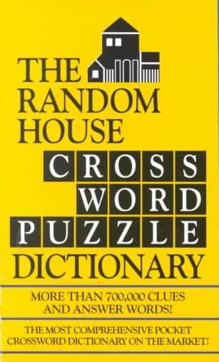 The Random House Crossword Puzzle Dictionary (Paperback)