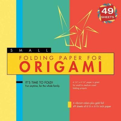 Folding Paper for Origami: 8 Colors, 40 Sheets Plus Gold Foil! (Paperback)