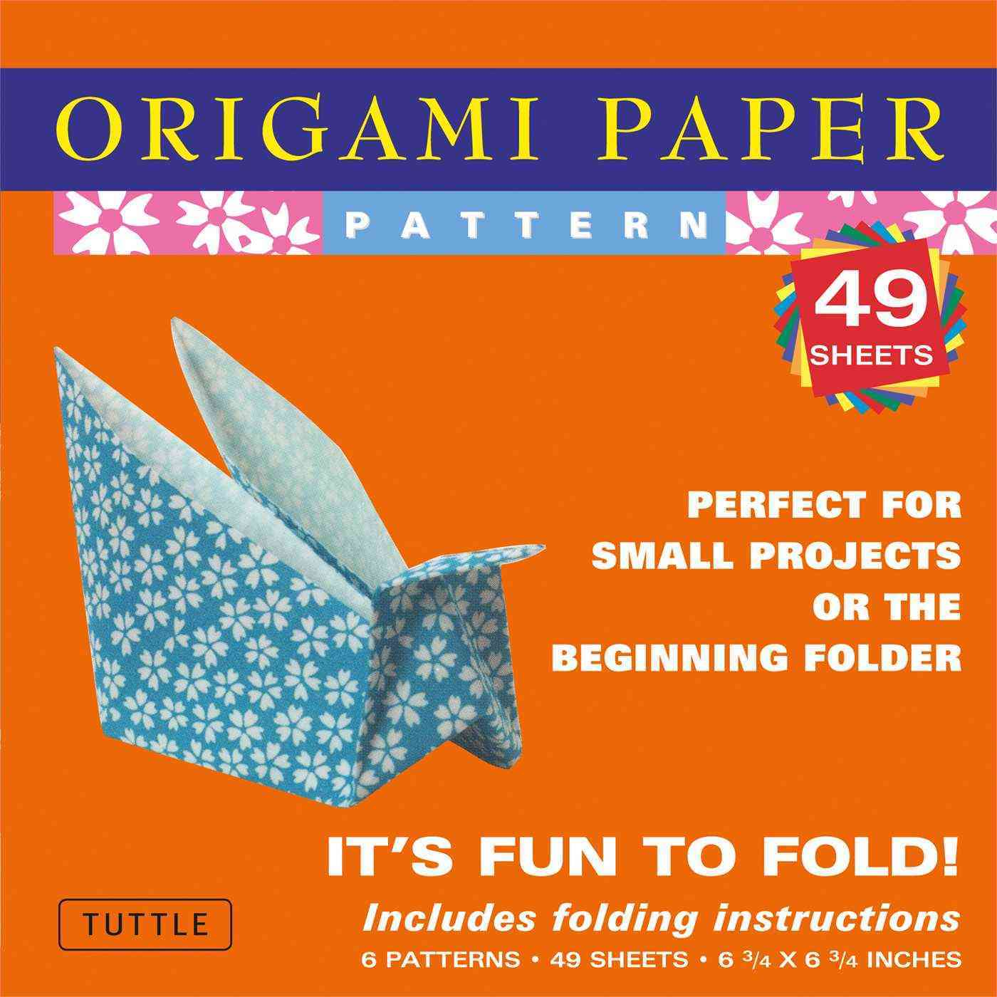 "Origami Paper - Patterns - Small 6 3/4"" - 49 Sheets: 49 Sheets (Paperback) - Thumbnail 0"